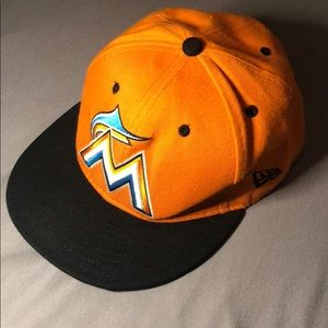 Miami Marlins New Era Baseball hat.